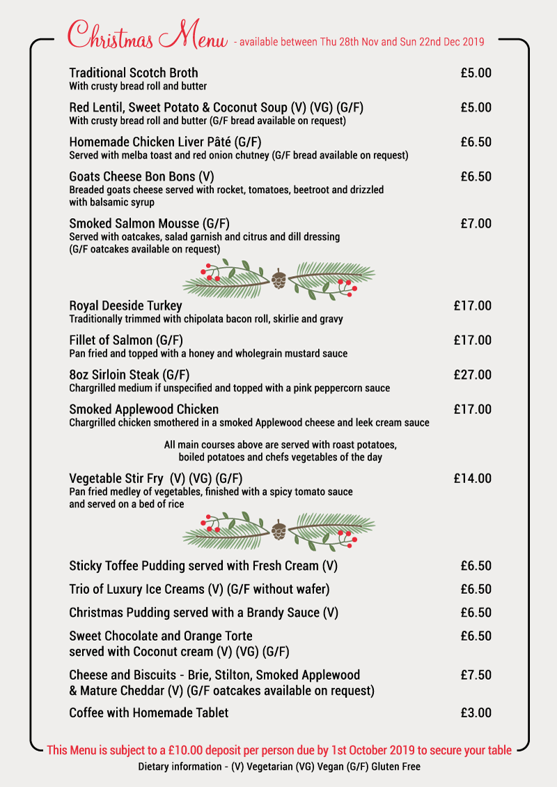 Christmas Dinner Restaurants Near Me 2019.Christmas The Dutch Mill Hotel